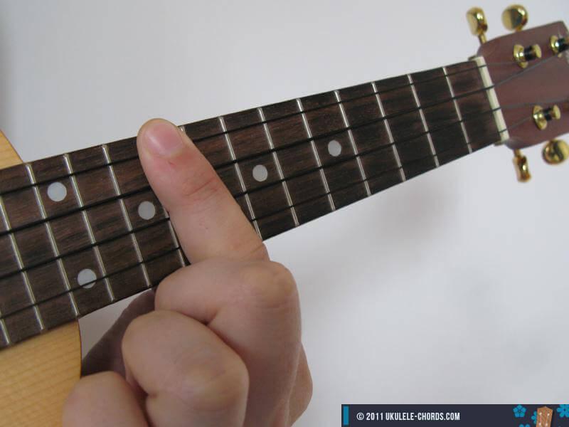 Gm7 Ukulele Chord Position 5
