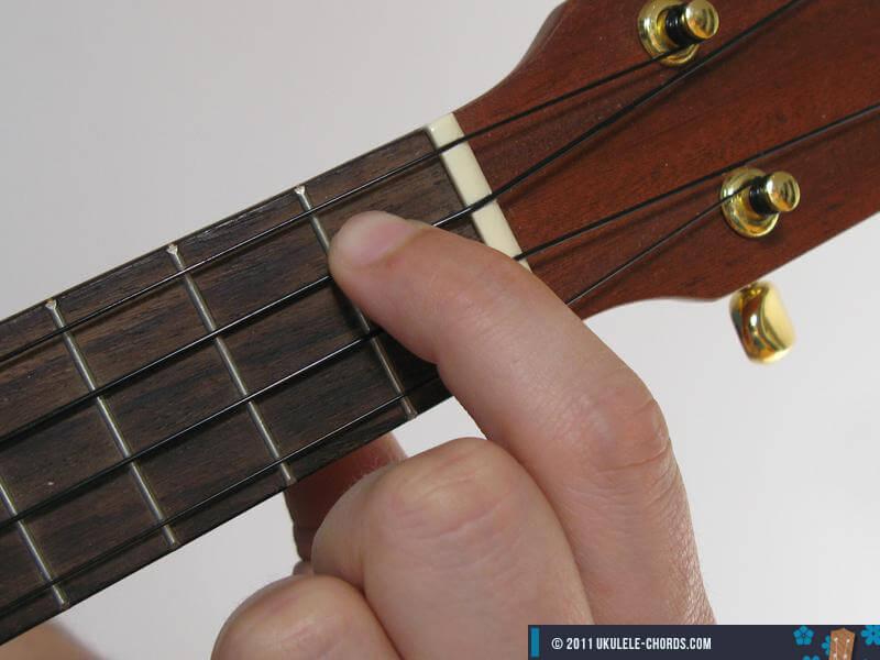 E7 Ukulele Chord - Baritone