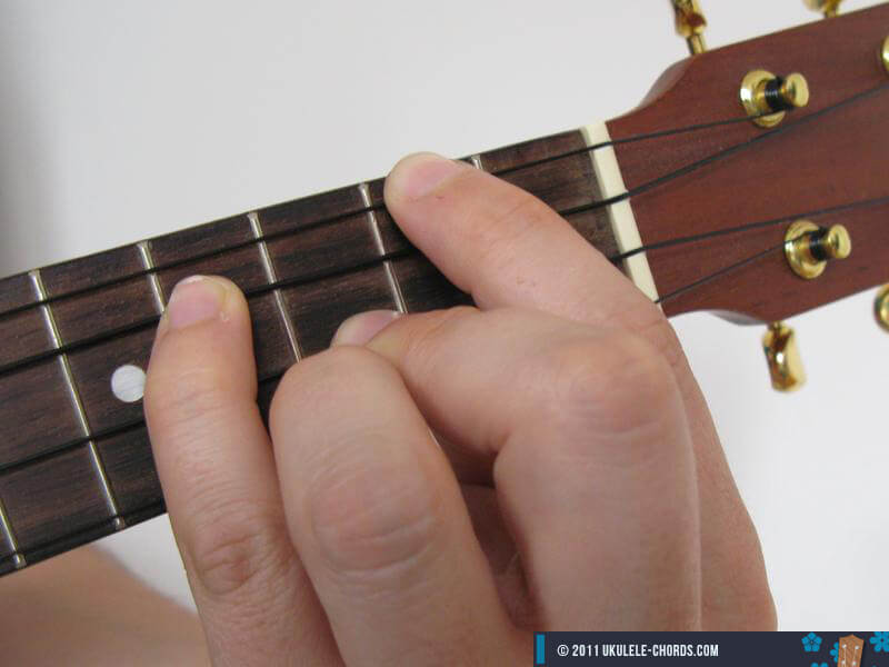 Am7 Ukulele Chord Position 2