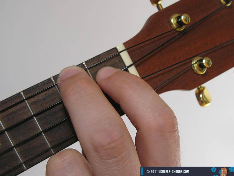 E Ukulele Chord Baritone