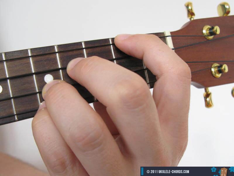 Dsus4 Ukulele Chord (Position #4)
