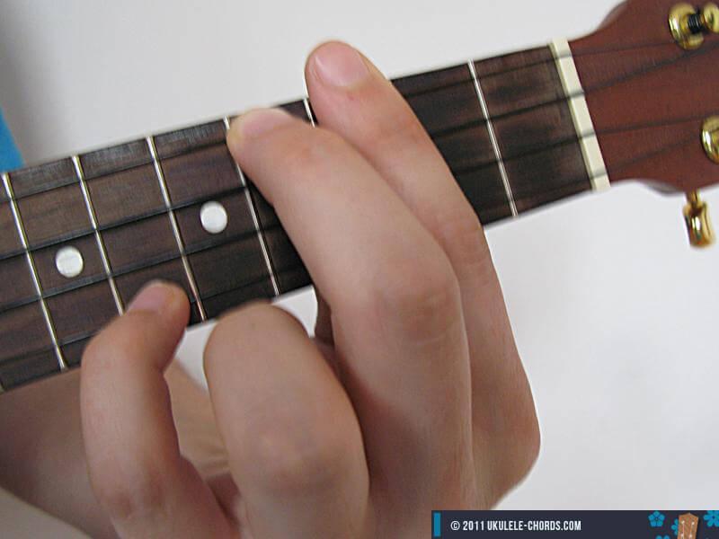 Baug Ukulele Chord Position 2