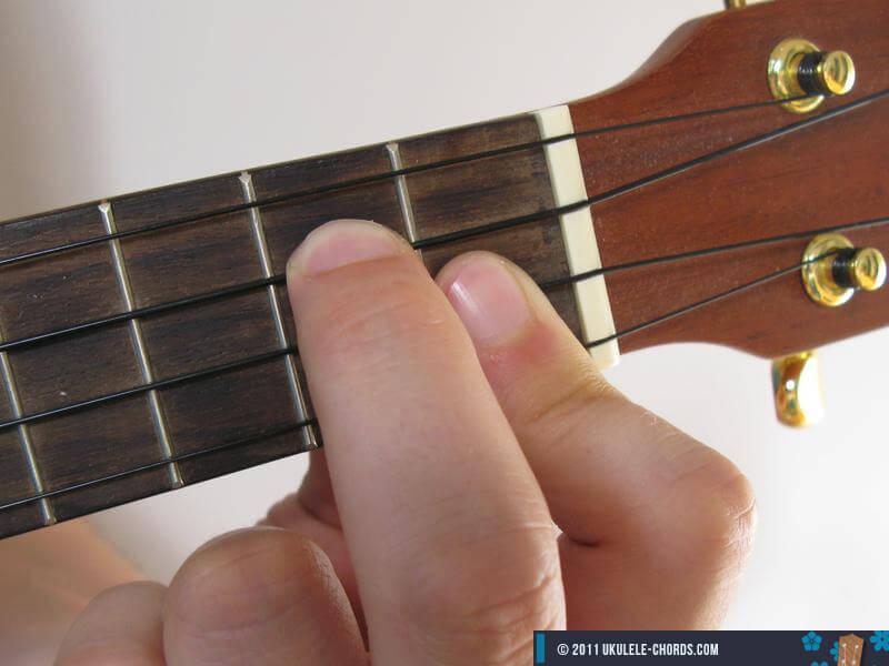 F6 Ukulele Chord Baritone