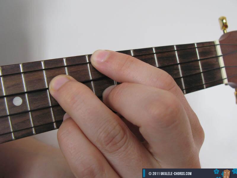 Fm7 Ukulele Chord Position 2 Baritone