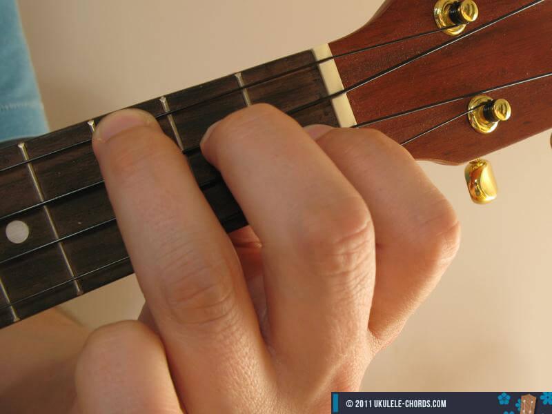Fmaj7 Ukulele Chord Baritone