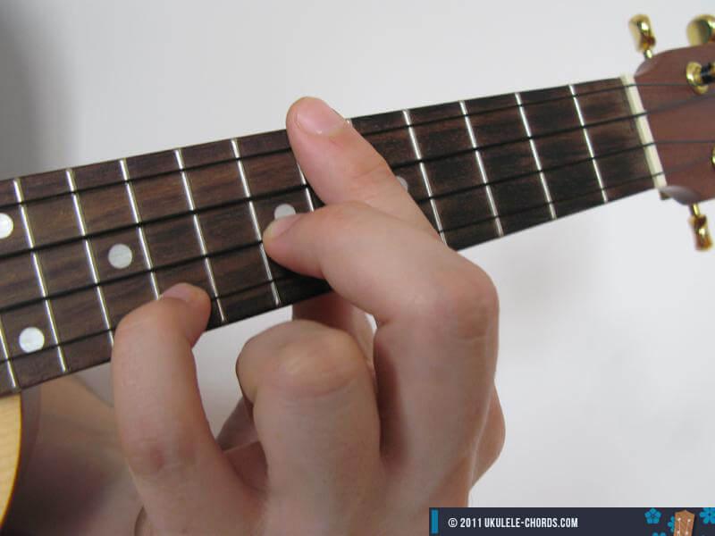 Dbsus2 (C#sus2) Ukulele Chord (Position #3) - D-Tuning