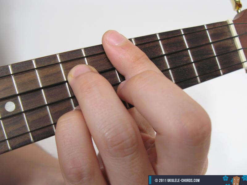 D6 Ukulele Chord Position 5 D Tuning
