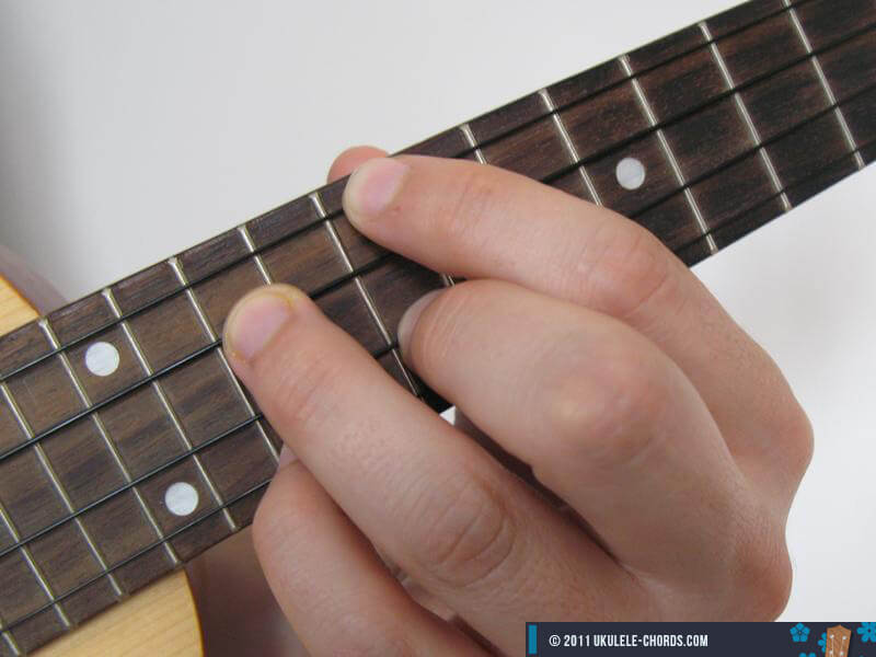 Dm7 Ukulele Chord Position 5 D Tuning