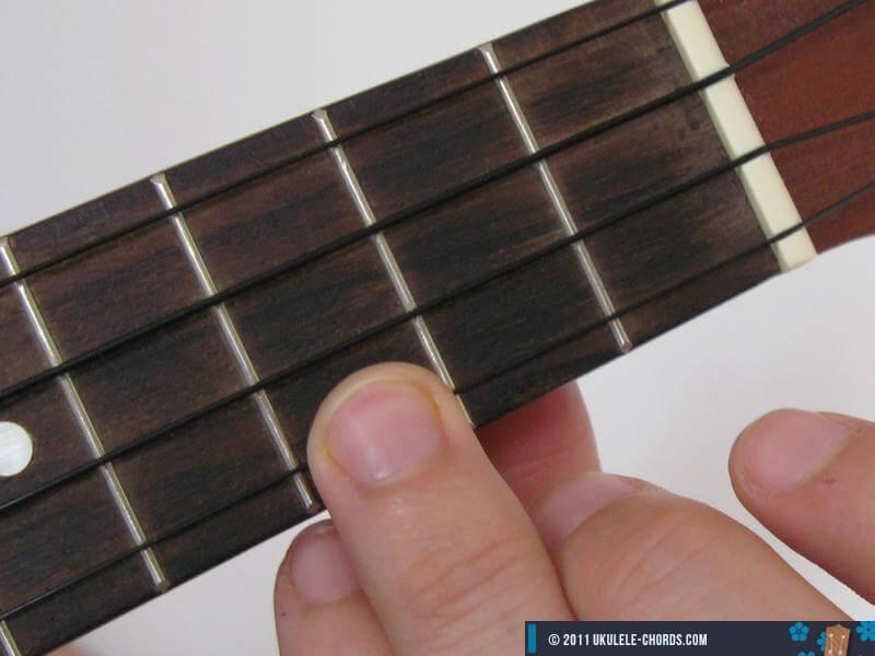 G Ukulele chord