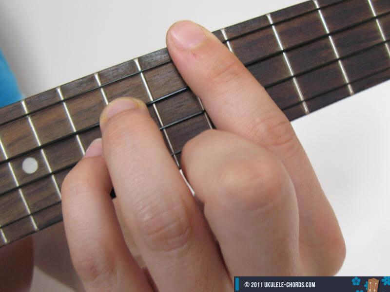 Gsus2 Ukulele Chord Position 3 Baritone