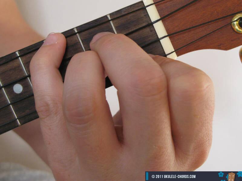 Daug Ukulele chord