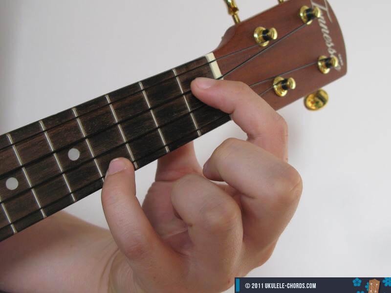 Dbdim Ukulele chord