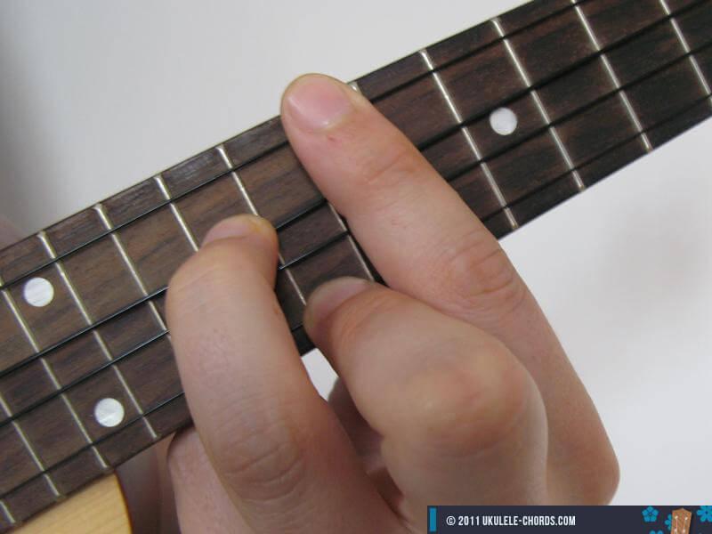 Em6 Ukulele Chord Position 5 D Tuning