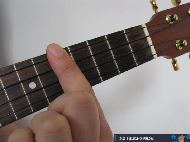 Dm7 Ukulele Chord (Position #2)