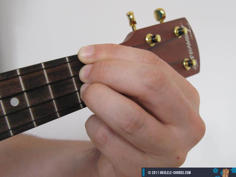 D uke chord Photo  D Minor 7 Chord Guitar Finger Position