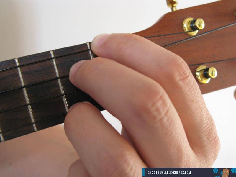 B7 Ukulele Chord Baritone