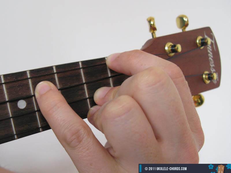 Gadd9 Ukulele Chord Position 3