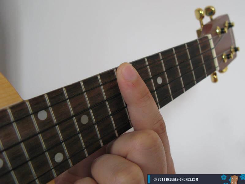 Bm7 Ukulele Chord Position 3 Baritone
