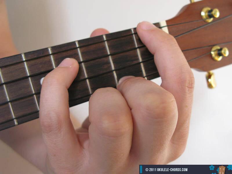 B Ukulele Chord Baritone
