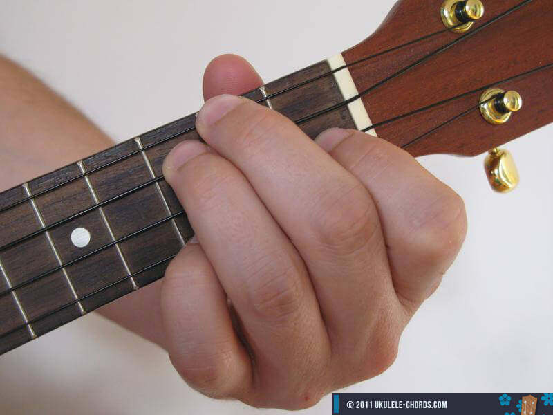 correct chord position   D Minor 7 Chord Guitar Finger Position