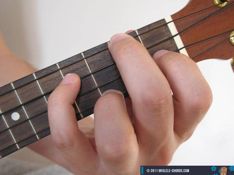 Cmaj7 Ukulele chord