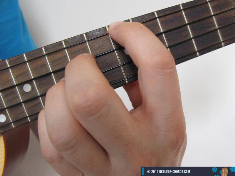Csus2 Ukulele Chord (Position #3) - Baritone