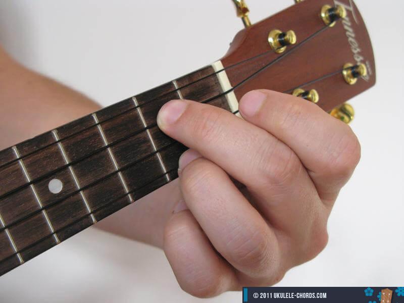 D6 Ukulele Chord Baritone