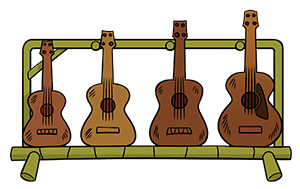 Ukulele tunings/sizes